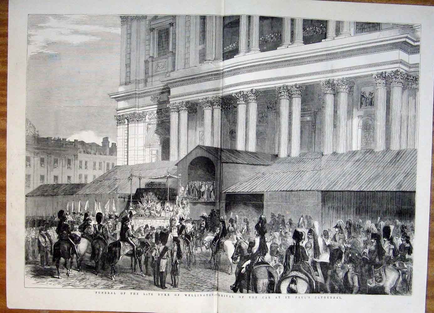 Print Funeral Wellington St Paul'S Cathedral London 1852 27Tmaa0 Old Original