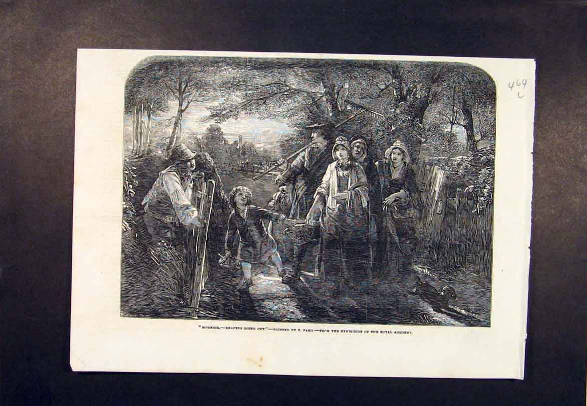 Print Reapers Fard Reaper Farmer Farm Royal Academy 1854 64Lmaa0 Old Original