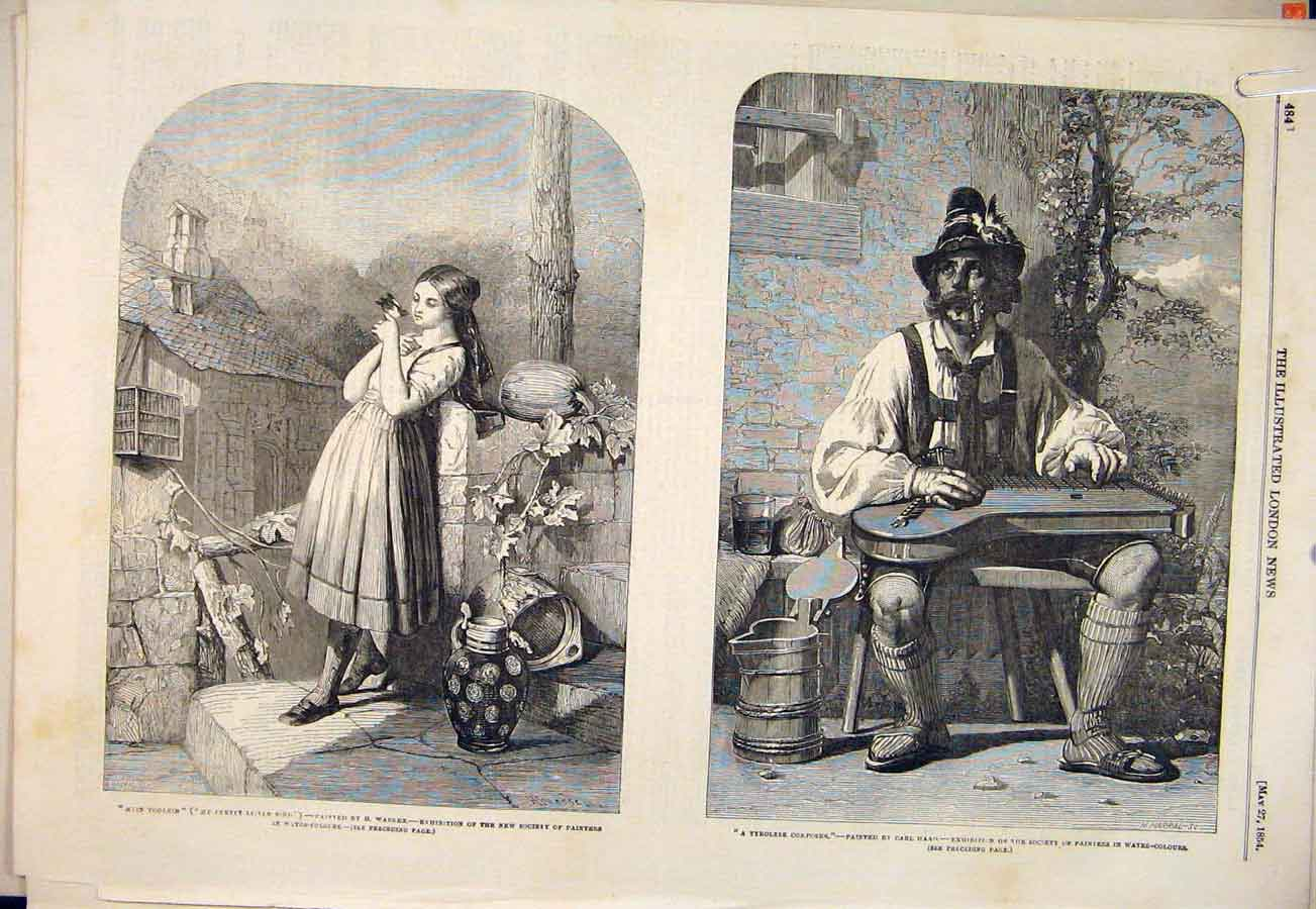 Print Warren Haagrankley O'Niel Faust Girl Bird Composer 1854 84Amaa0 Old Original