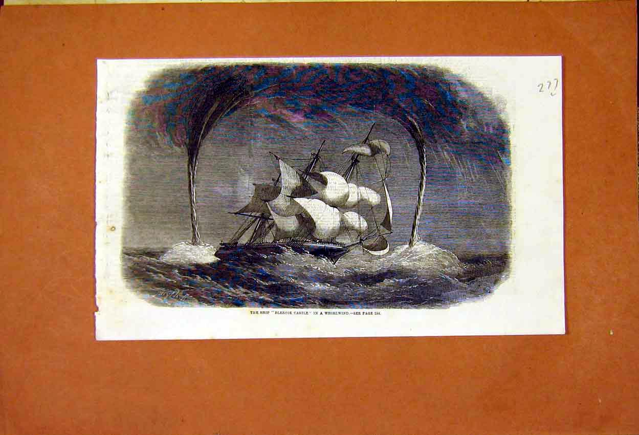 Print Bleroie Castle Whirlwind 77Lmaa0 Old Original