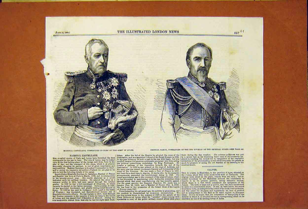 Print Castellane Lyons Camou Imperial Guard 1859 57Umaa0 Old Original
