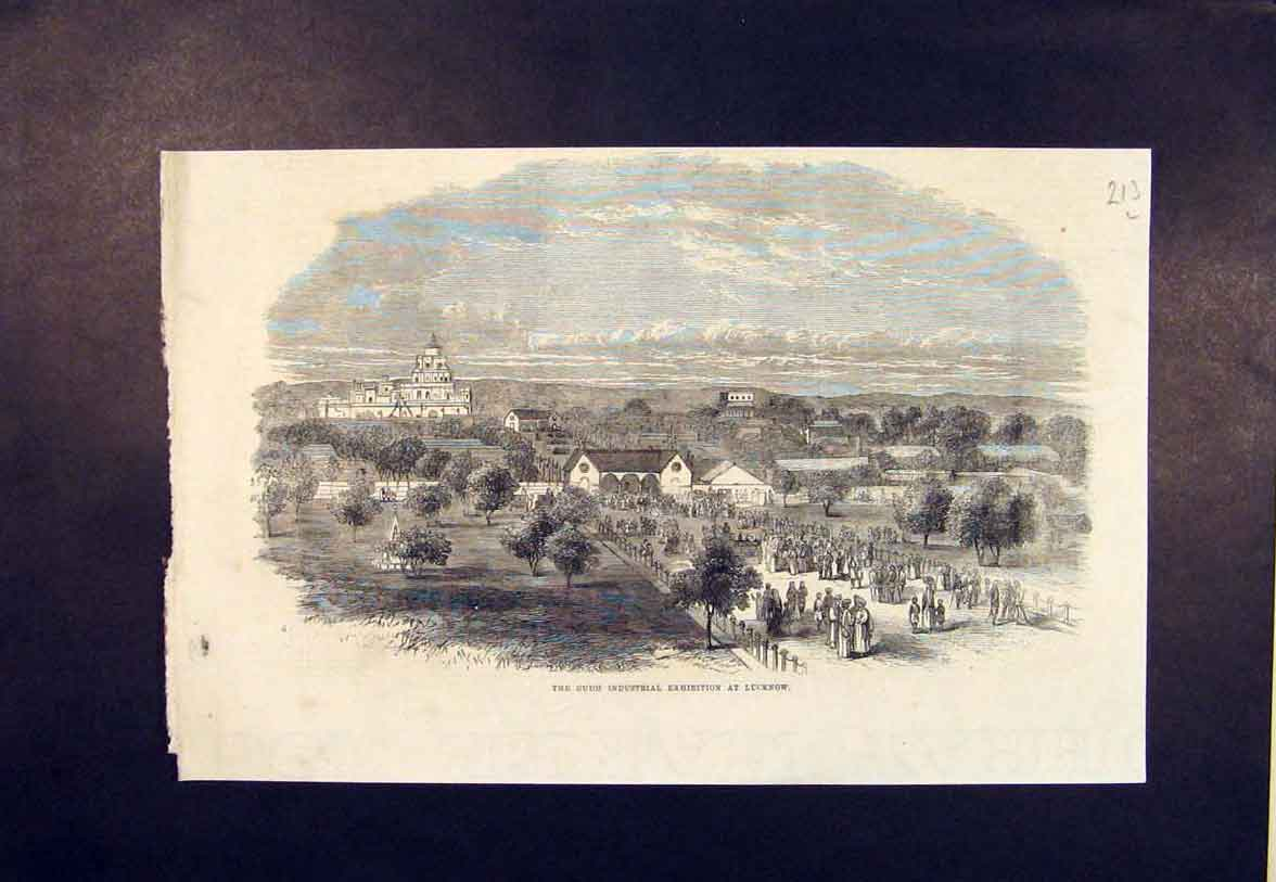 Print Oudh Industrial Exhibition Lucknow 1865 13Lmaa0 Old Original