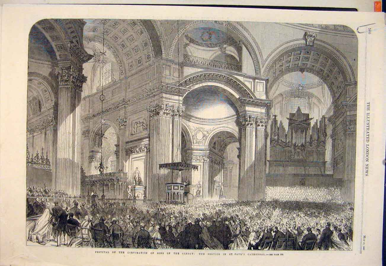 Print Fesitval Corporation Clergy Banquet Merchant Cathedral 00Amaa0 Old Original