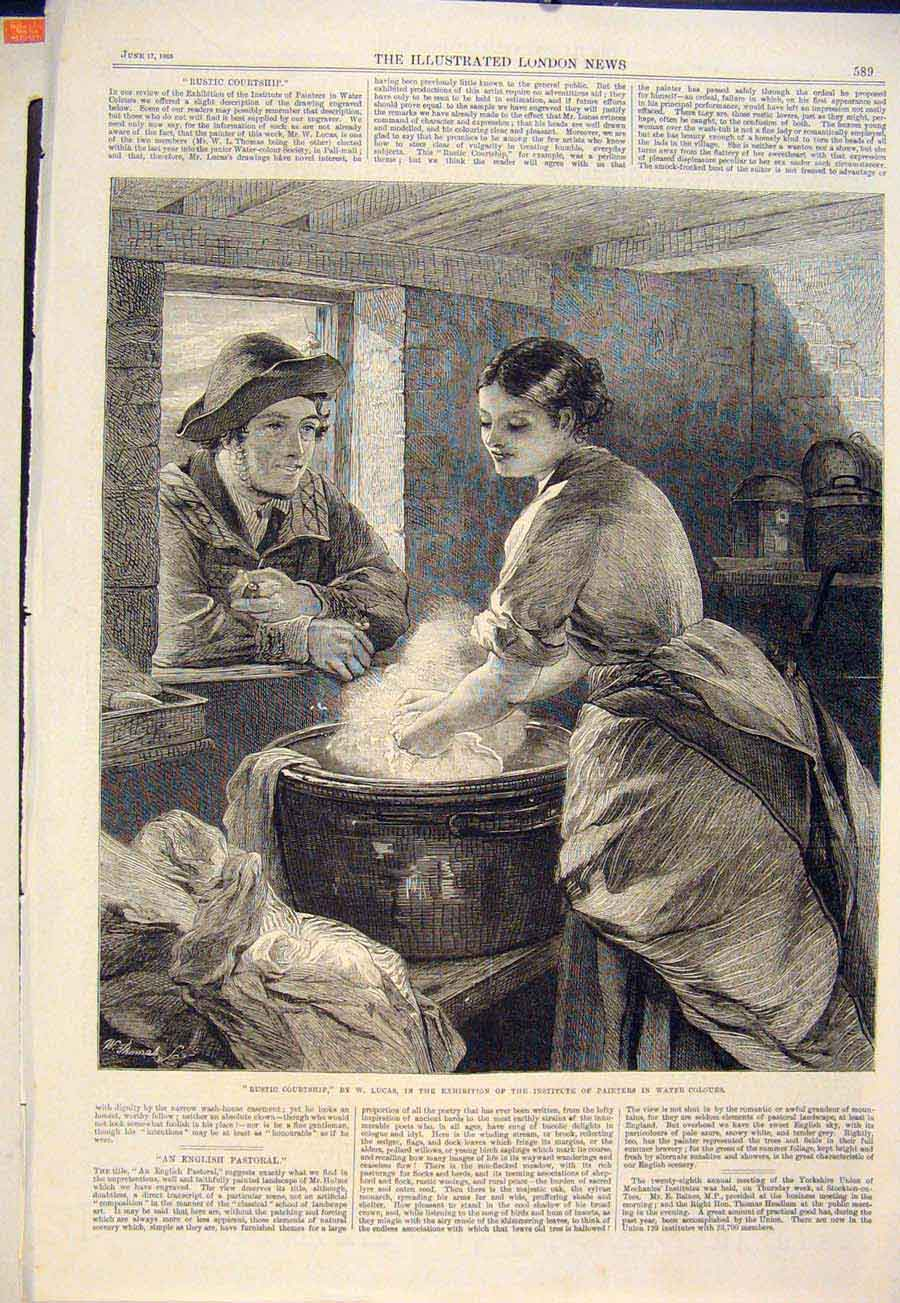 Print Rustic Courtship Lucas Washing Washer Woman Man Lady 89Maa0 Old Original
