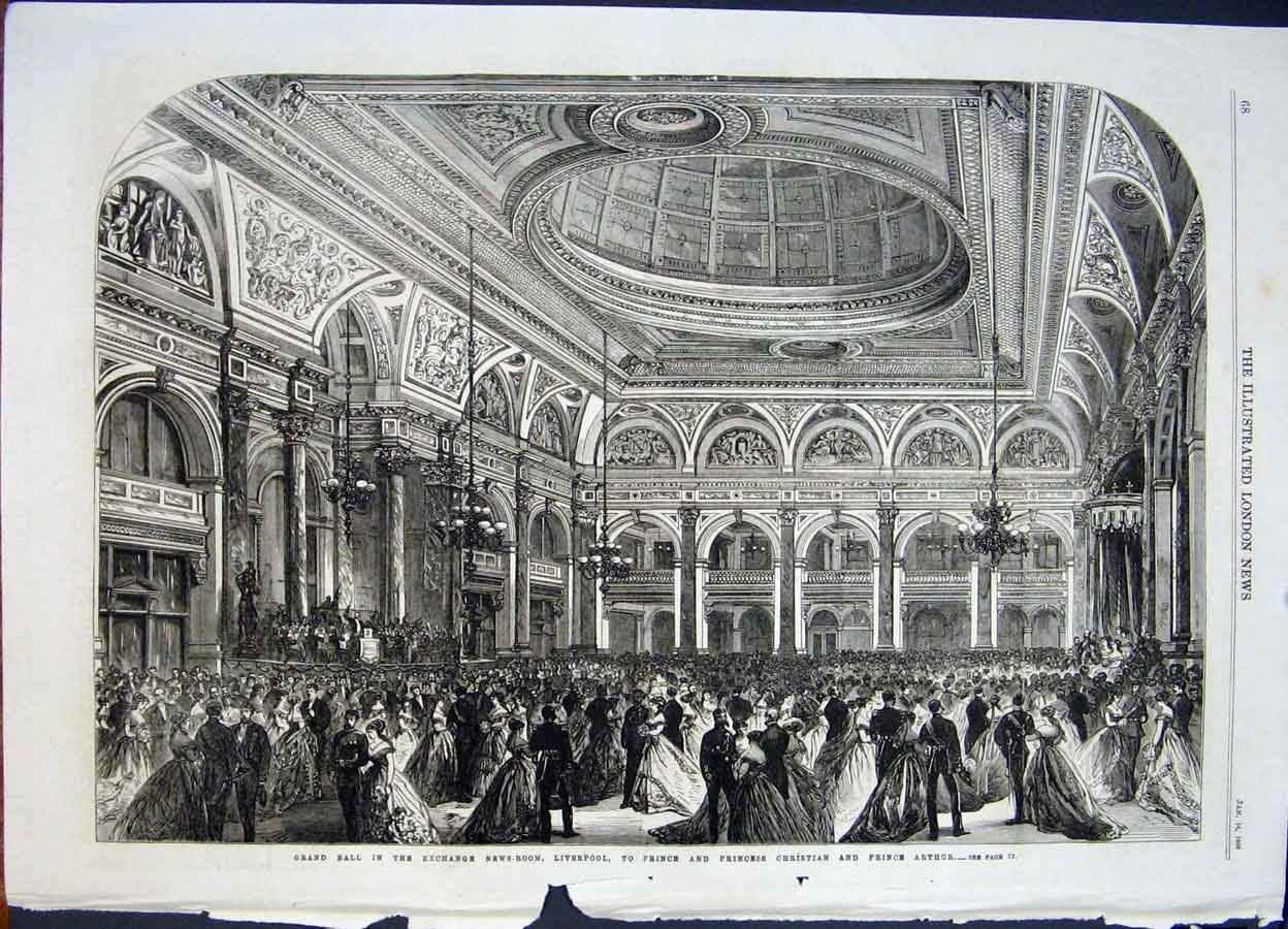 Print Ball Exchange Room Liverpool Christian Arthur Prince 68Maa0 Old Original