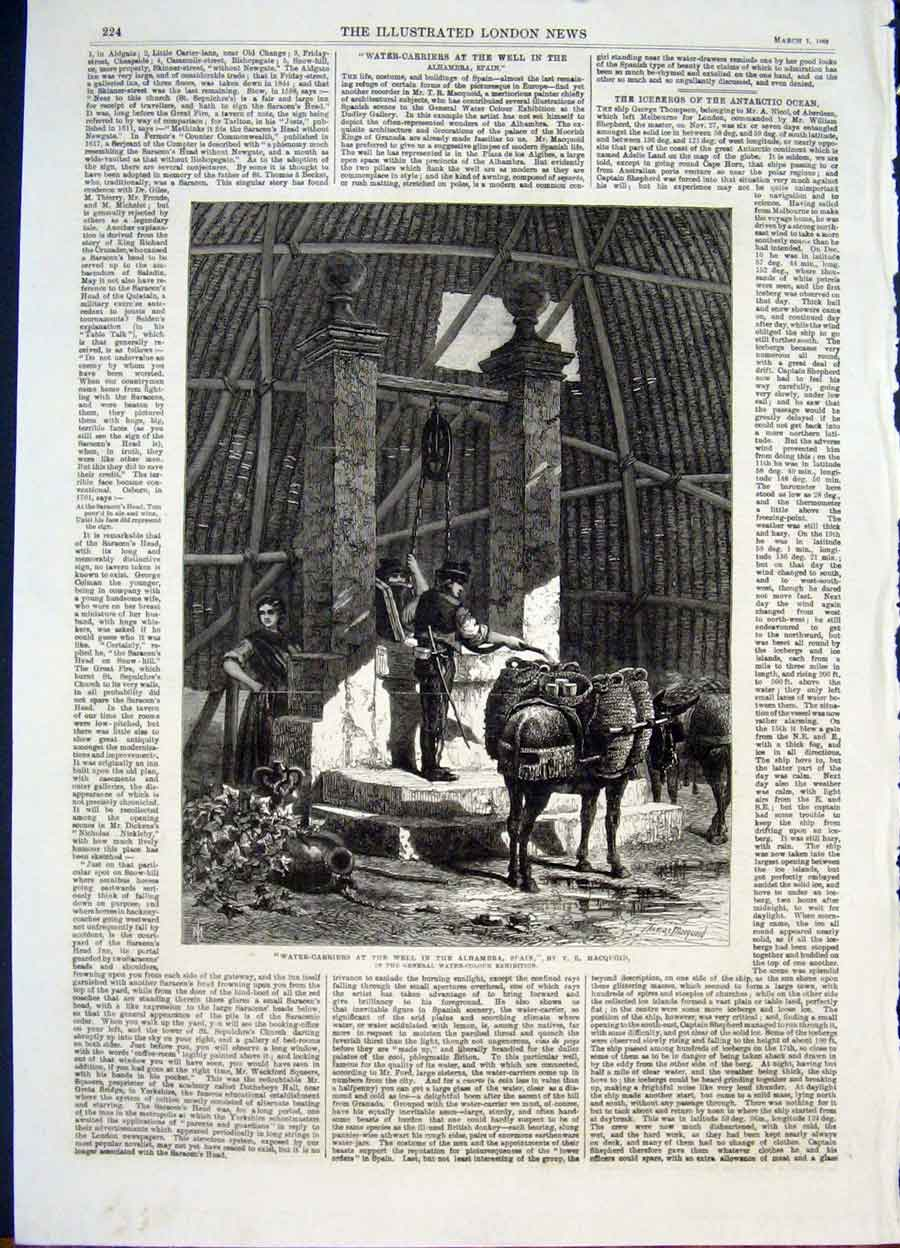 Print Water Carriers Well Alhambra Spain Macquoid Art 1868 24Maa0 Old Original