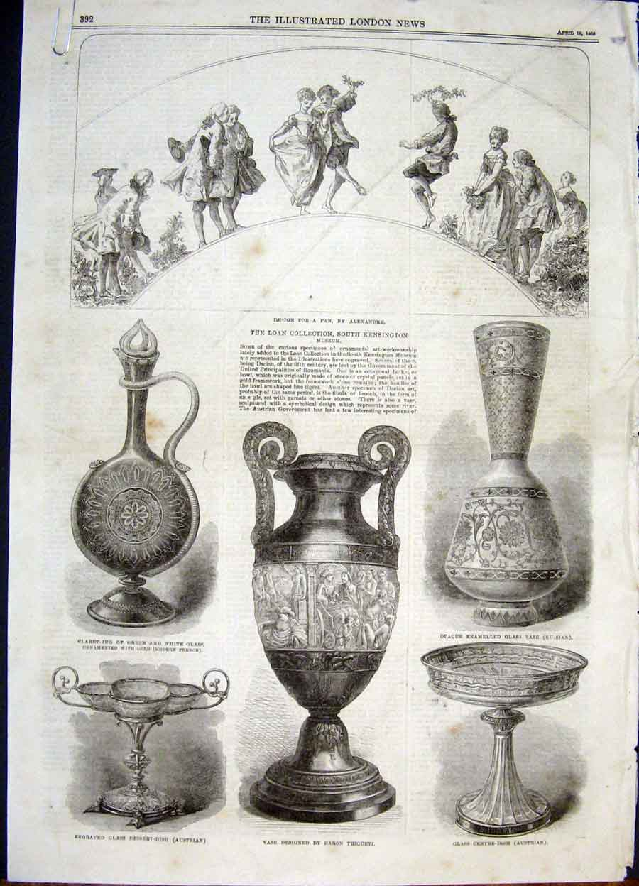 Print Loan Art Collection Kensington Museum Vase 1868 92Amaa0 Old Original