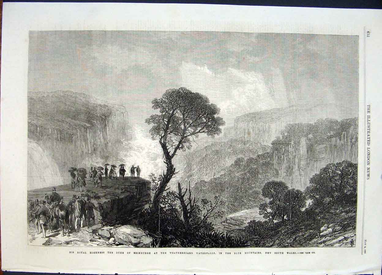 Print Weatherboard Waterfall Blue Mountain New South Wales 32Maa0 Old Original