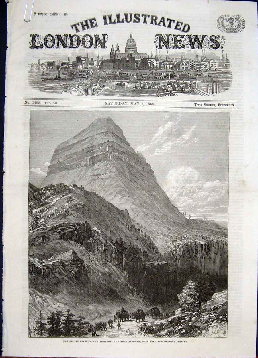 Print Abysinnia Expedition British Amba Aladjieh Adigerat 48Amaa0 Old Original