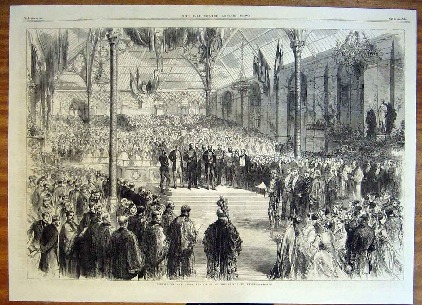 Print Leeds Exhibition Wales Prince 1868 43Tmaa0 Old Original