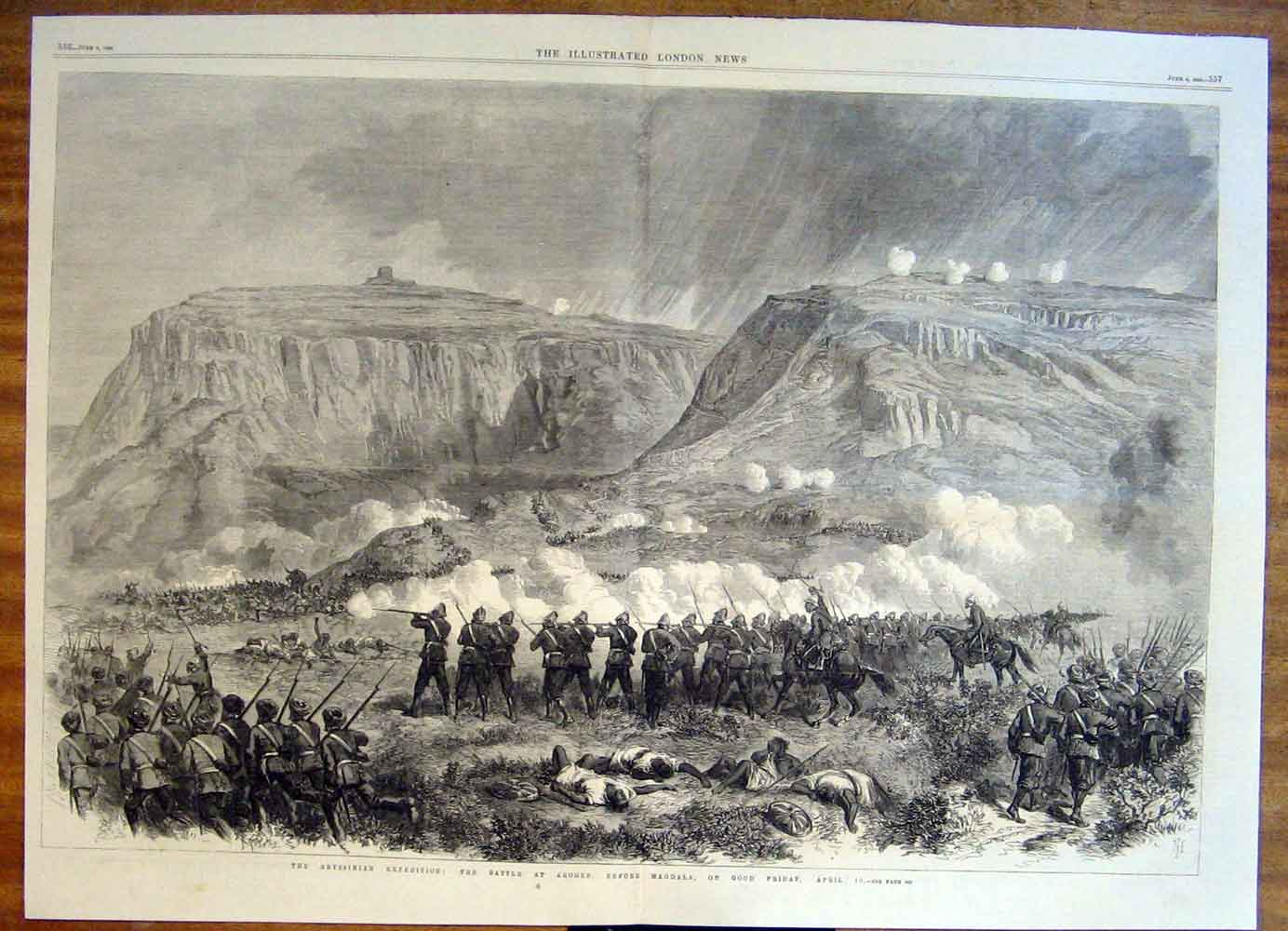 Print Abyssinian Arogee Magdala Expedition 1868 55Tmaa0 Old Original