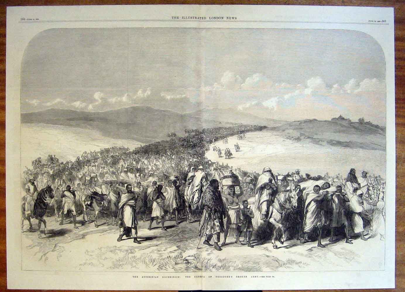 Print Abyssinian Expedition Exodus Theodore'S Army 1868 79Tmaa0 Old Original