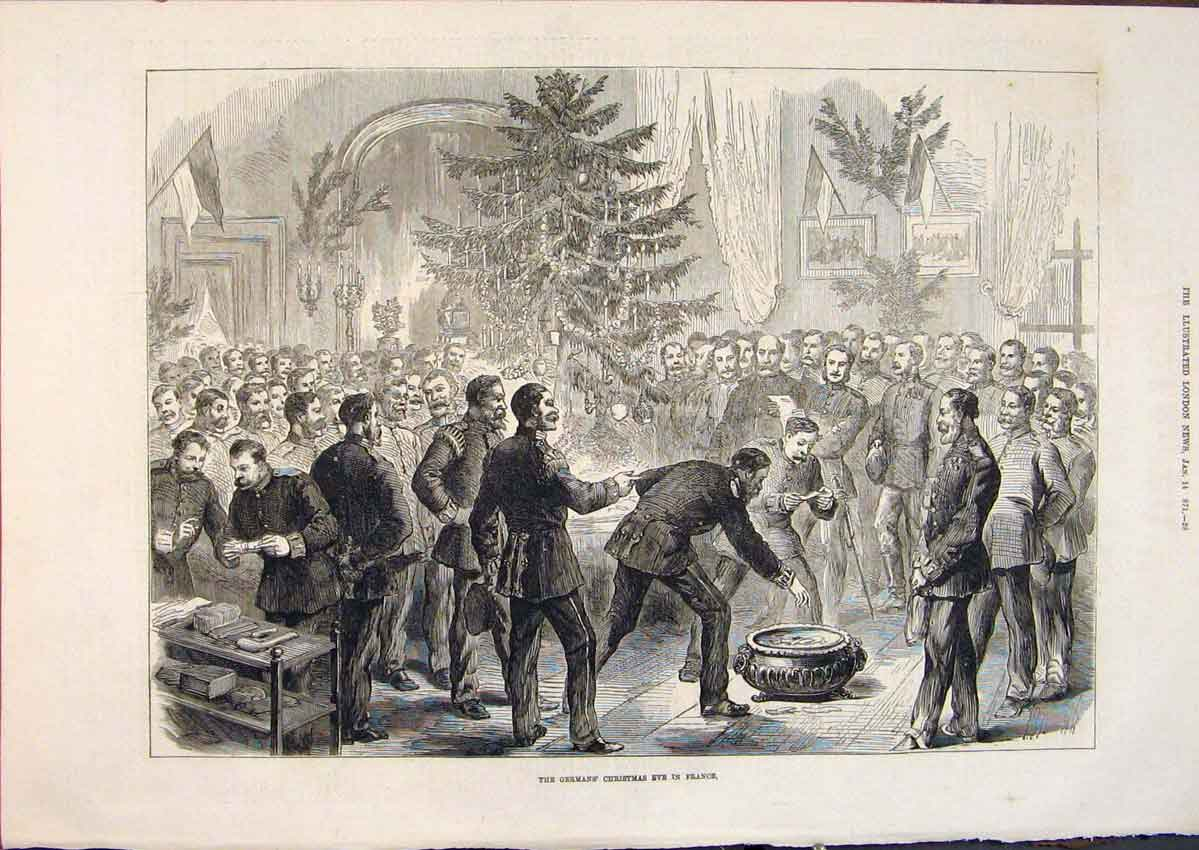 Print Germans Christmas France Tree Celebrations 1871 28Maa0 Old Original