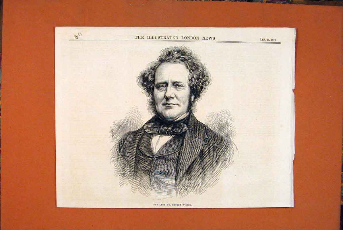 Print Portrait George Wilson 1871 72Umaa0 Old Original