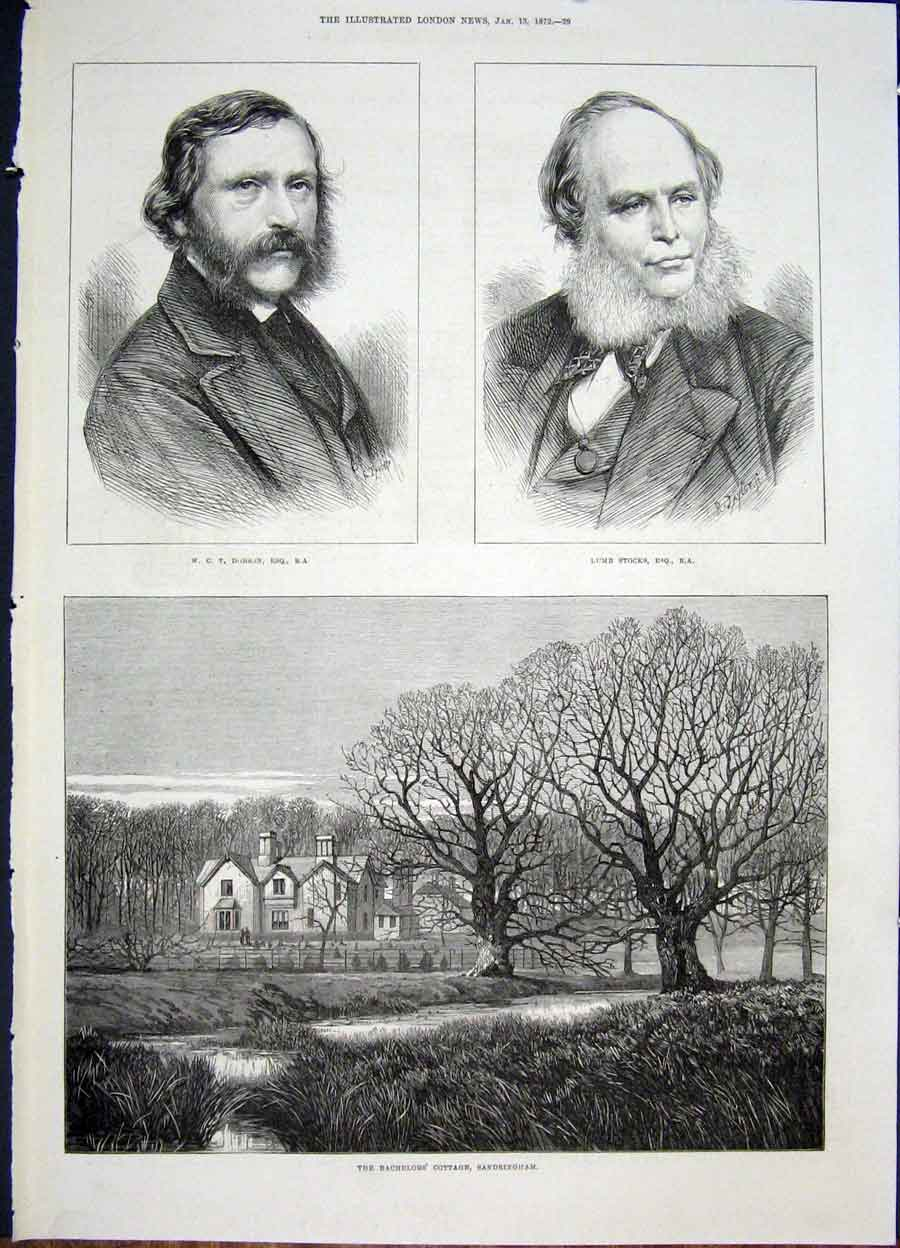 Print Portrait Dobson Stocks Bachelor Cottage Sandringham 29Maa0 Old Original