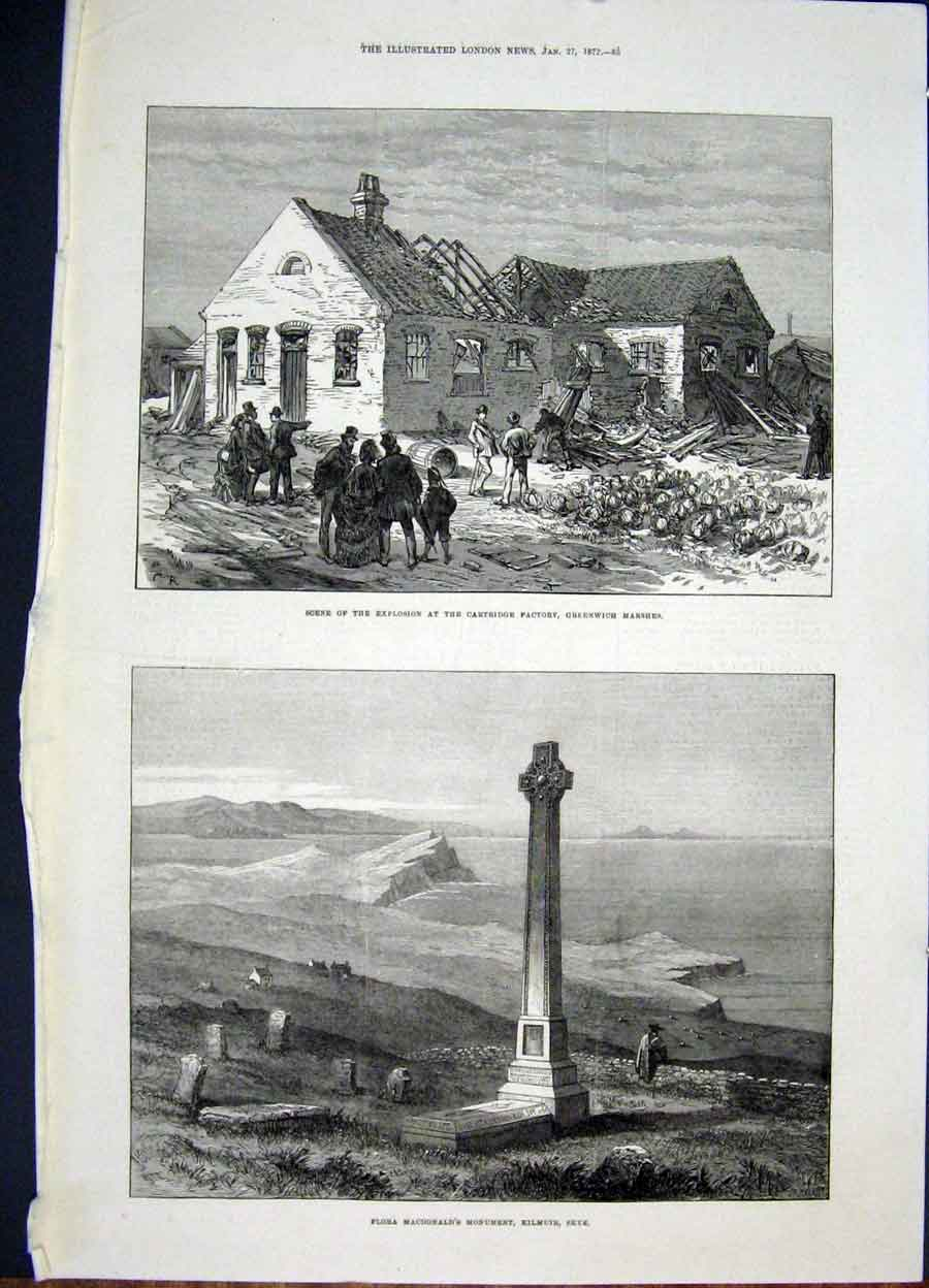 Print Cartridge Factory Greenwich Macdonald Monument Skye 85Maa0 Old Original