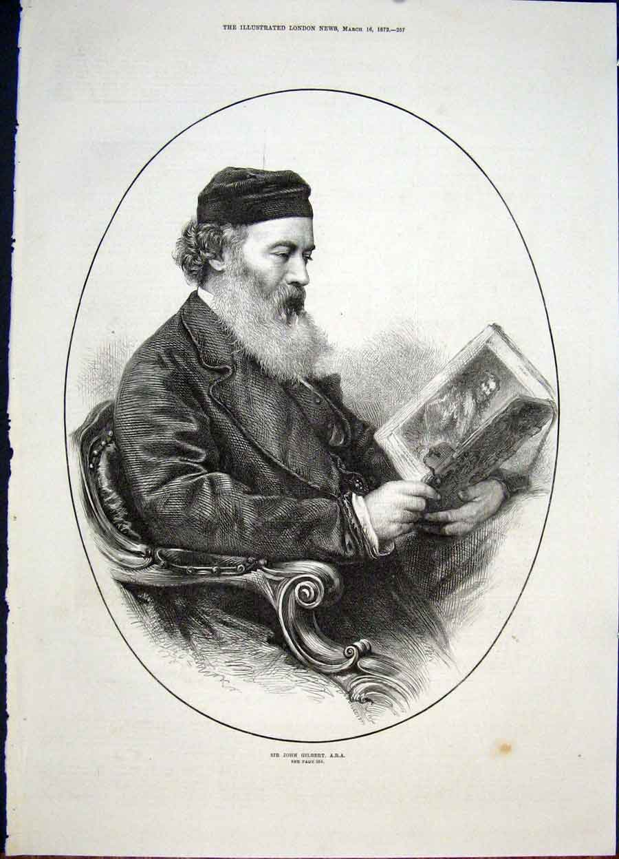 Print Portrait Gilbert Fine Art 1872 57Maa0 Old Original