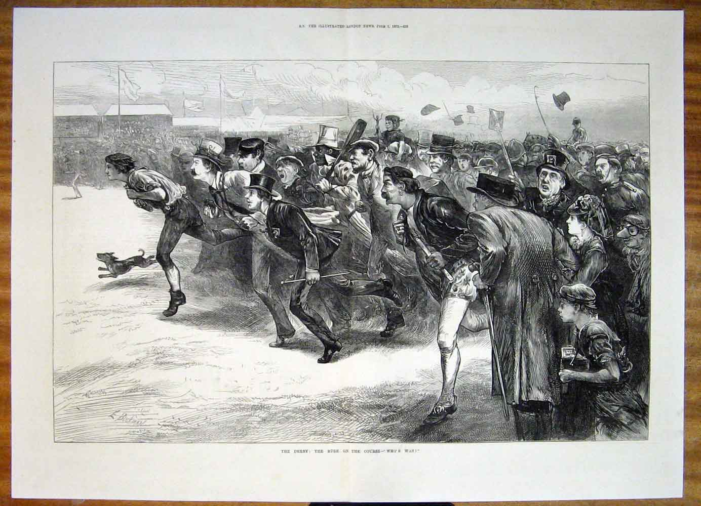 Print Derby Races Horse Race Course 1872 27Tmaa0 Old Original
