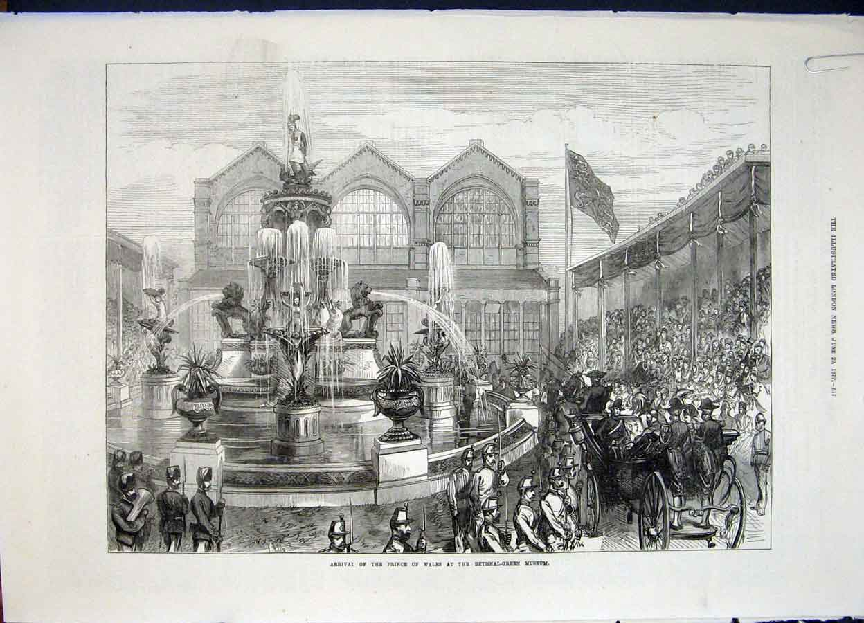 Print Bethnal Green Museum Ascot Races Race London 1872 17Amaa0 Old Original