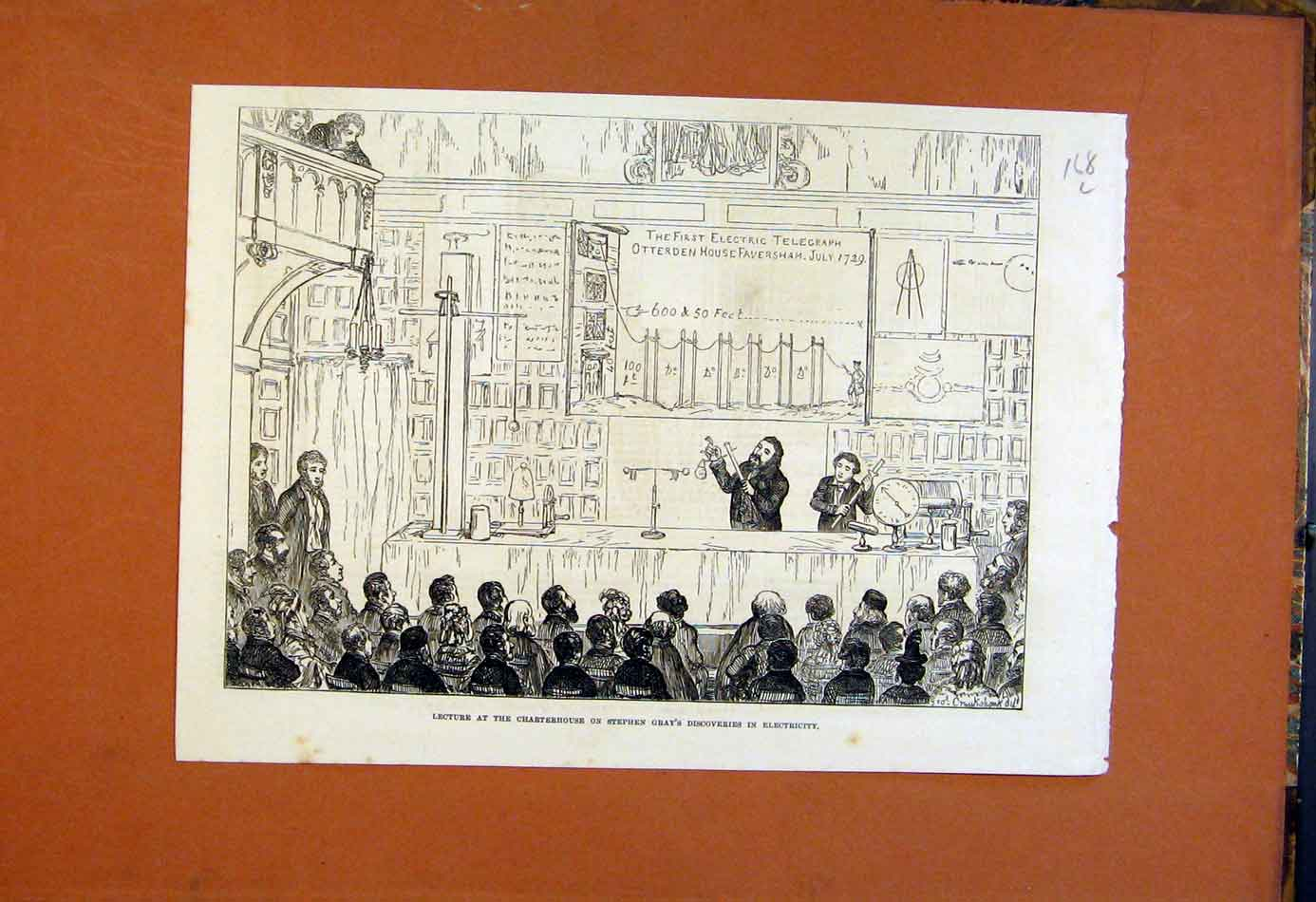 Print Charterhouse Gray Electricity Lecture 1874 68Lmaa0 Old Original
