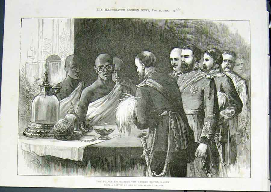 Print Sacred Tooth Kandy Prince 1876 72Umaa0 Old Original