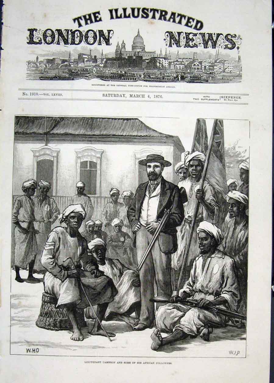 Print Lieutenant Cameron African Africa Followers 1876 18Maa0 Old Original