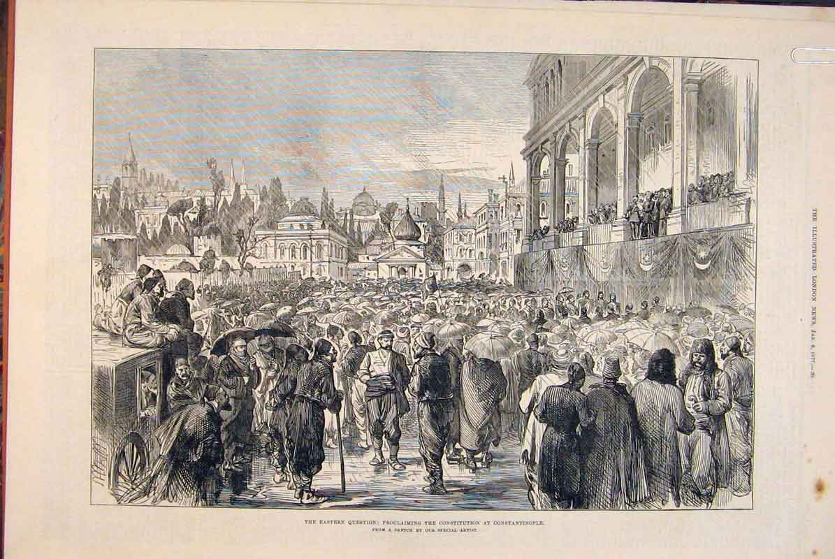 Print Constantinople Constitution Sketches Conference 1877 20Amaa0 Old Original