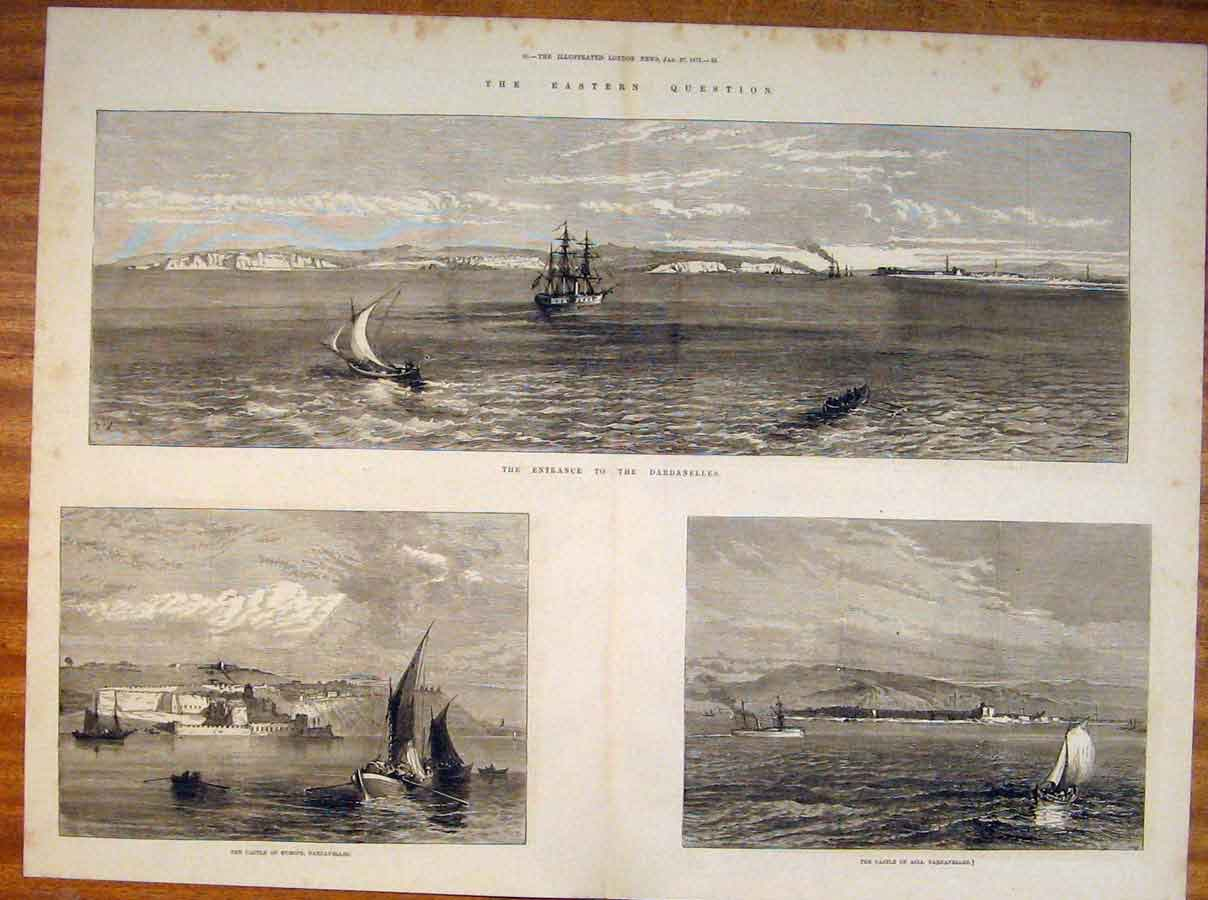 Print Dardanelles Castle Europe Asia Eastern 1877 79Tmaa0 Old Original