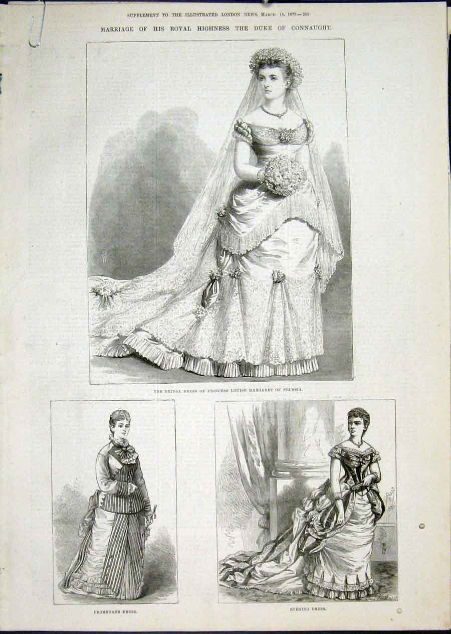 Print Marriage Connaught Princess Margaret Prussia Windsor 53Amaa0 Old Original