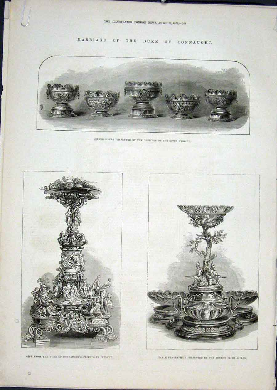 Print Duke Connaught Wedding Marriage Gifts 1879 68Amaa0 Old Original