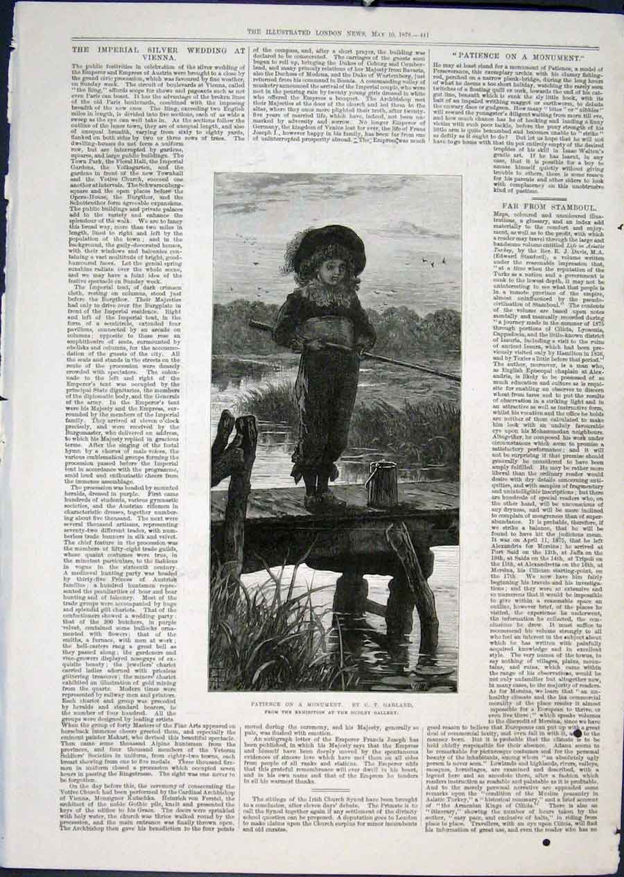 Print Patience Monument Garland Fishing Pier Fine Art 1879 41Maa0 Old Original