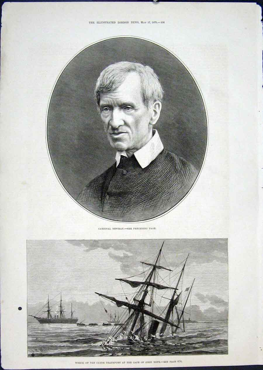 Print Portrait Newman Wreck Clyde Cape Good Hope South Africa 56Maa0 Old Original