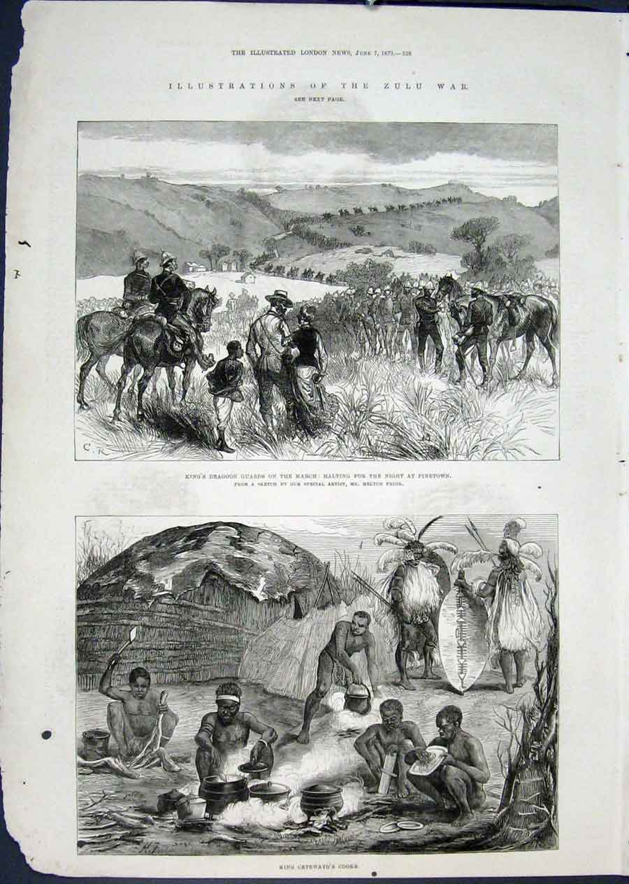 Print Zulu War Pinetown South Africa Cetewayo Prior 1879 28Maa0 Old Original