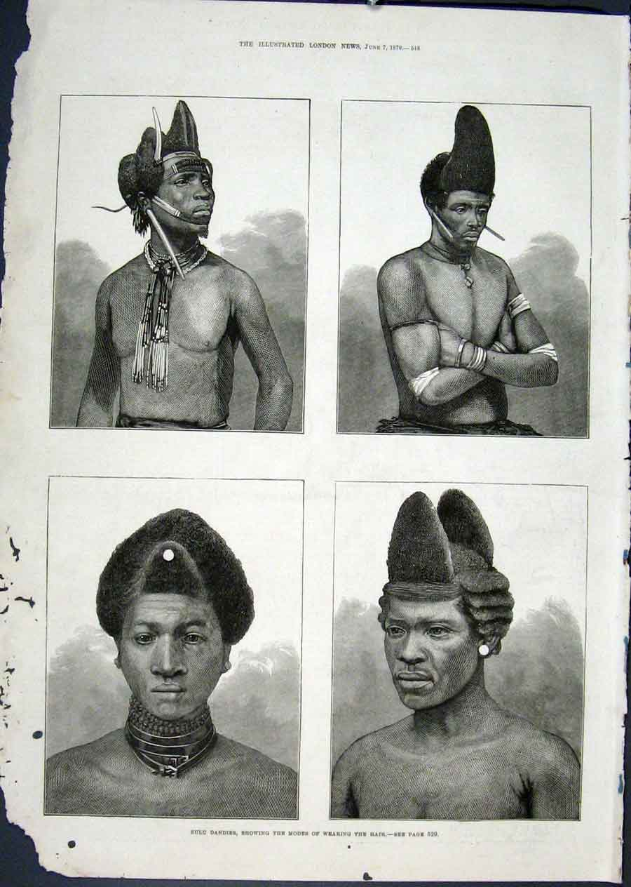 Print Zulu Dandies Hair Styles Hairstyles South Africa 1879 48Maa0 Old Original