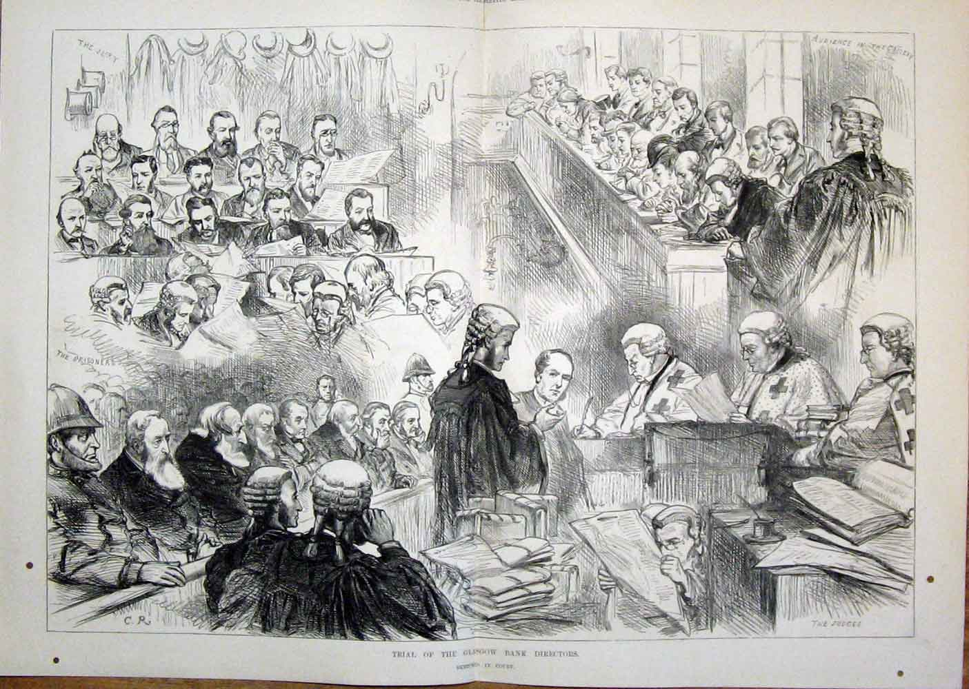 Print Glasgow Bank Directors Scotland Court 1879 18Tmaa0 Old Original