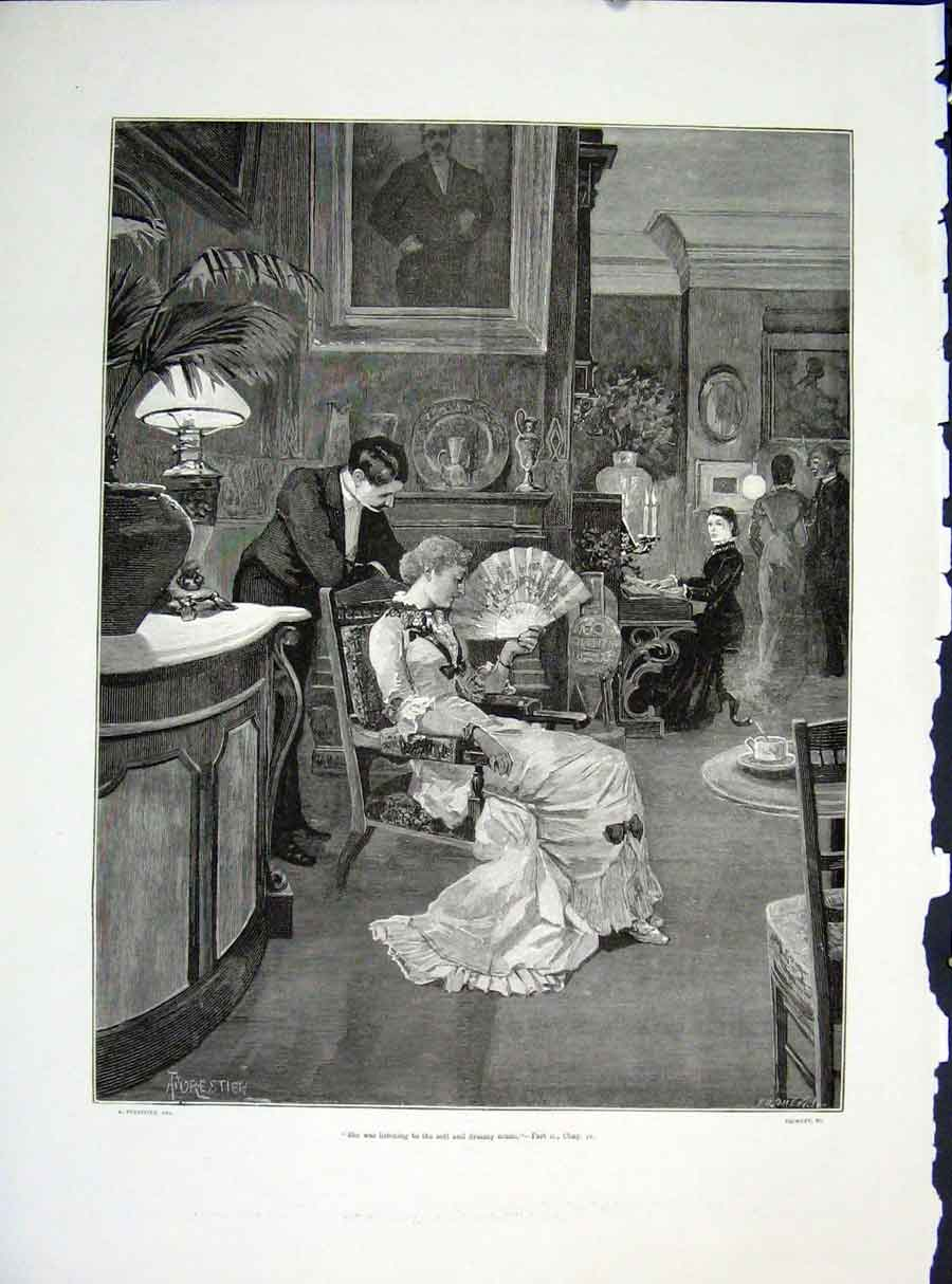 Print Parlour Forestier Froment Illustraion Story Art 1882 39Maa0 Old Original