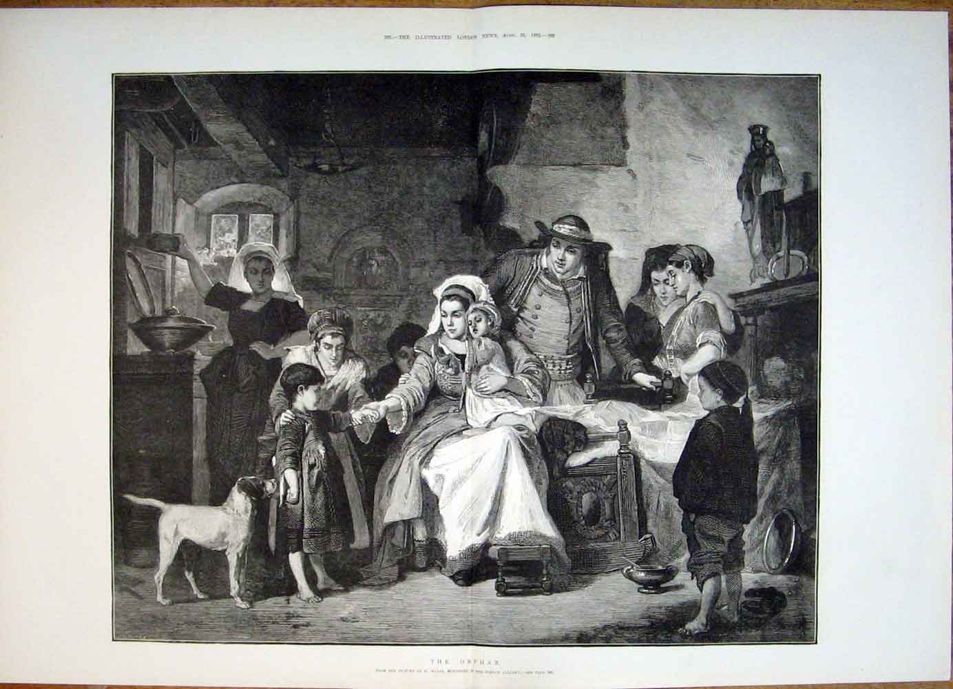 Print The Orphan Wylie Child Family Fine Art 1882 91Tmaa0 Old Original