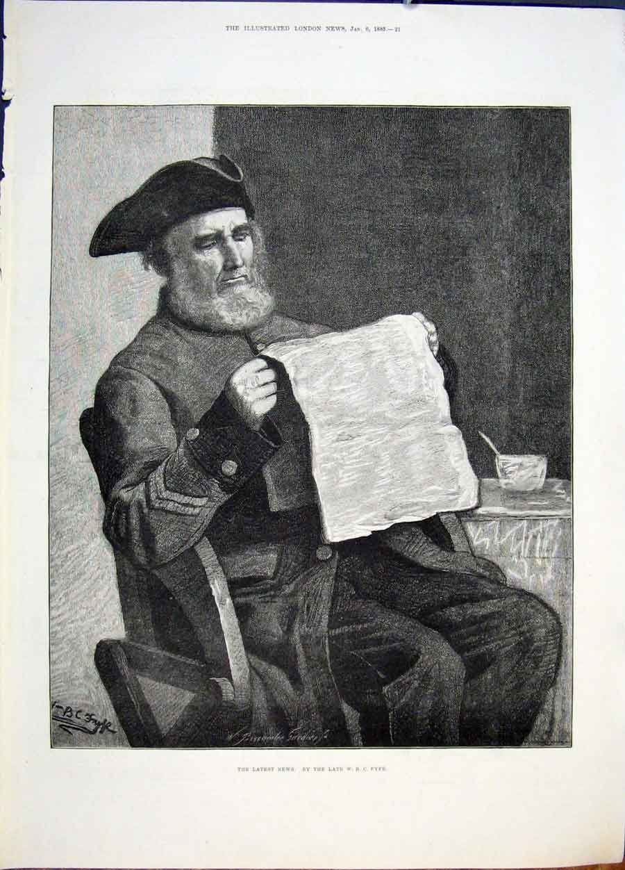 [Print Fyfe Latest News Gentleman Newspaper Fine Art 1883 21Maa0 Old Original]