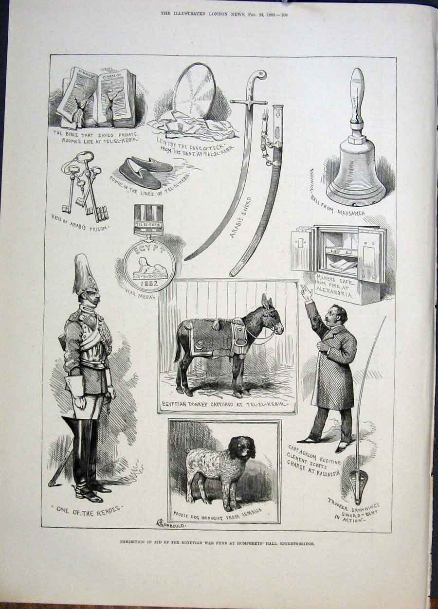 Print Exhibition Egyptian War Humphreys Hall Knightsbridge 08Maa0 Old Original