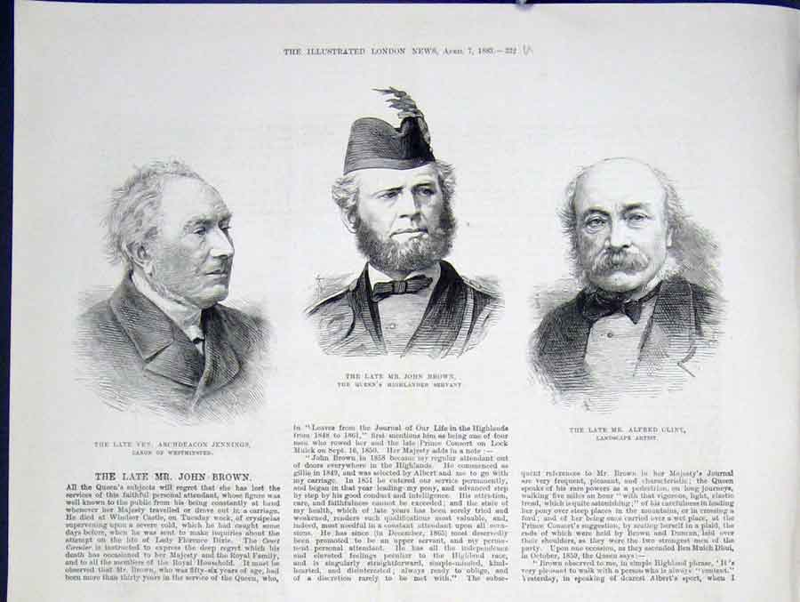 Print Jennings Westminster Brown Highlander Clint Artist 1883 32Umaa0 Old Original