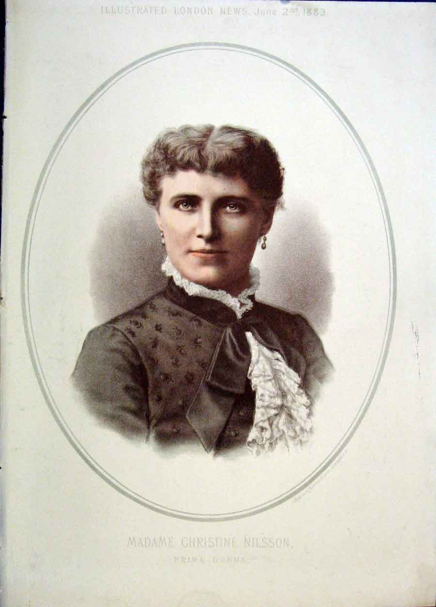 Print Portrait Christine Nelson Prima Donna Colour 1883 20Maa0 Old Original