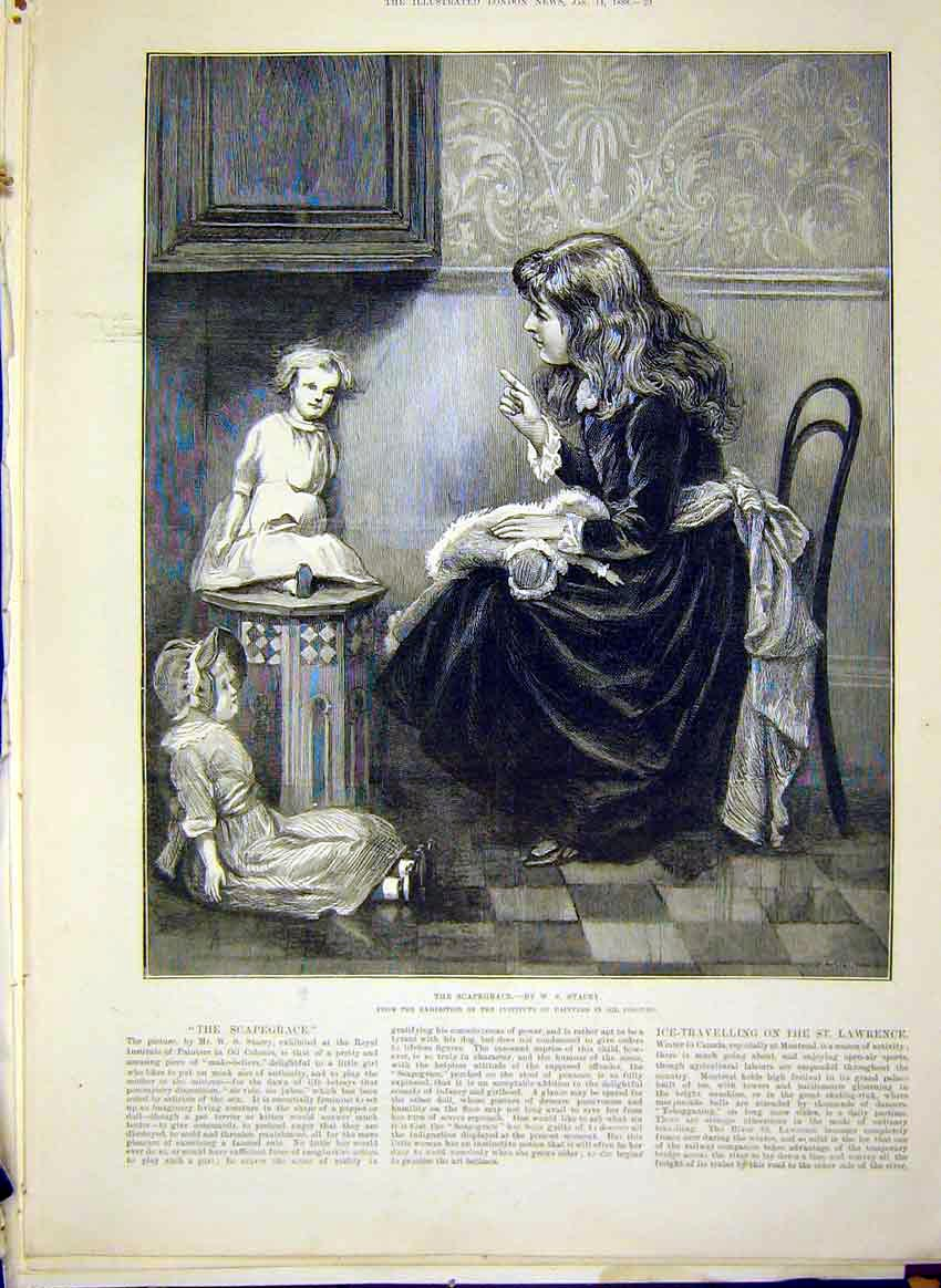 Print Scapegrace Stacey Fine Art 1888 Girl Dolls Child 39Maa0 Old Original