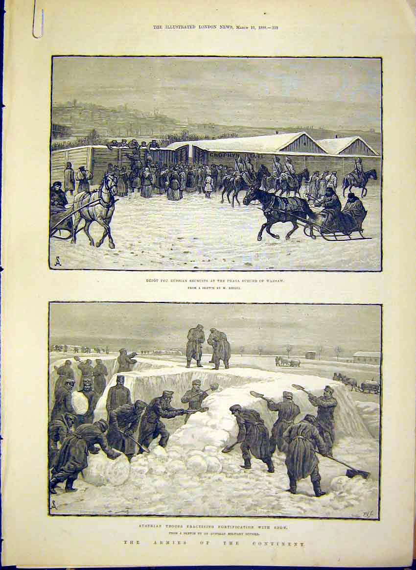Print Army Austrian Russian Poland Cavalry 1888 Riedel 39Amaa0 Old Original