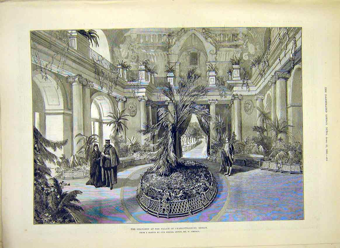 Print Orangery Palace Charlottenburg Berlin Germany 1888 15Maa0 Old Original