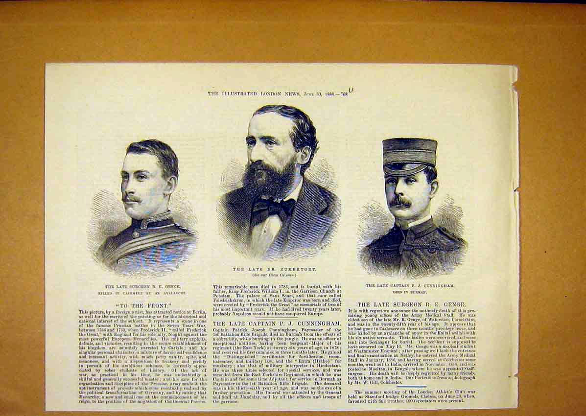 Print Turf Scandal Sketches Chief Justice Court 1888 08Umaa0 Old Original