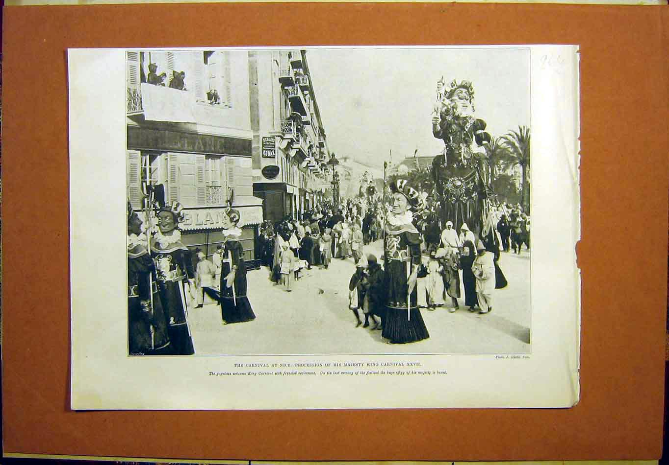Print Carnival Nice Procession King 1899 64Lmaa0 Old Original