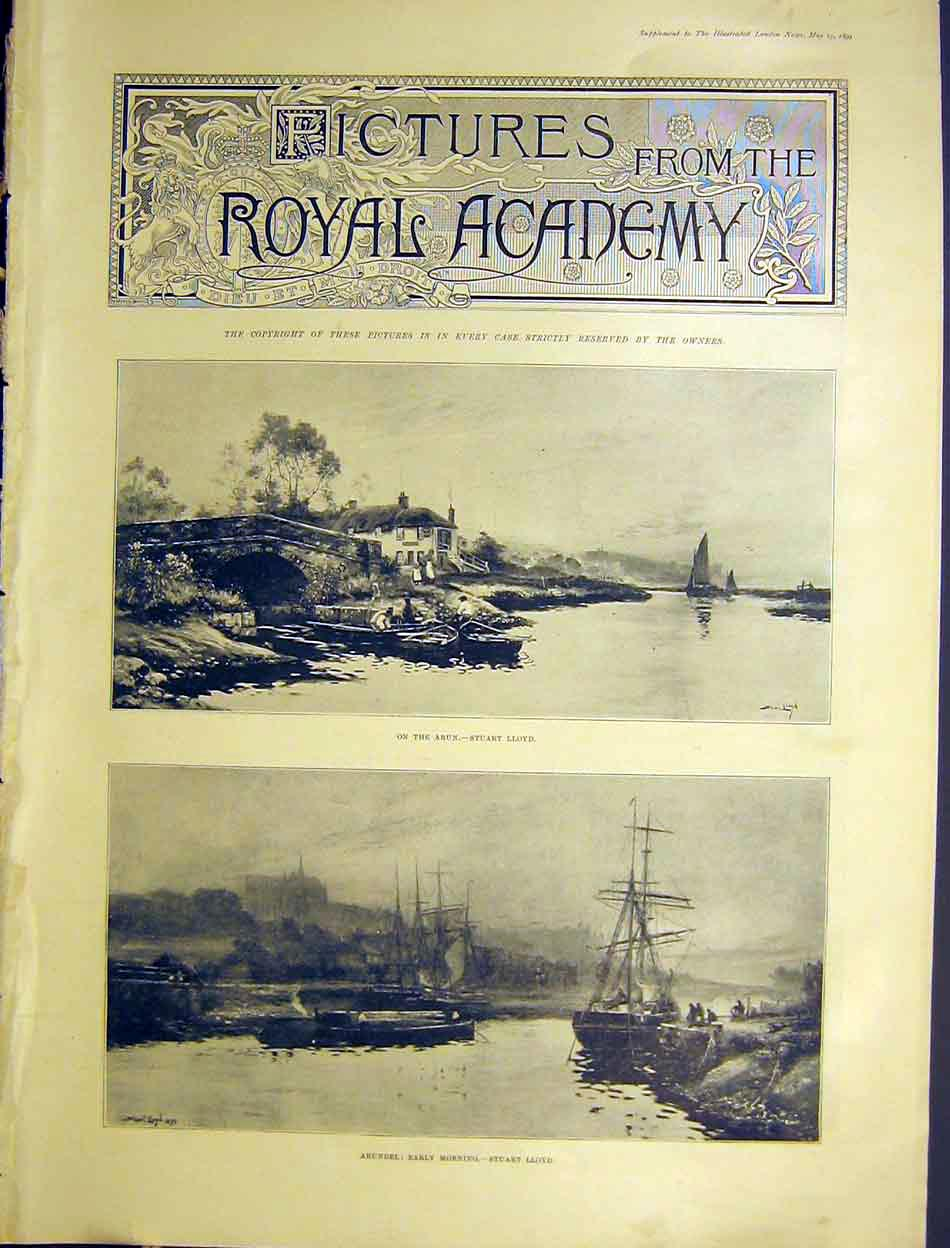 Print 29 Pictures Royal Academy Fine Art 1899 00Amaa0 Old Original