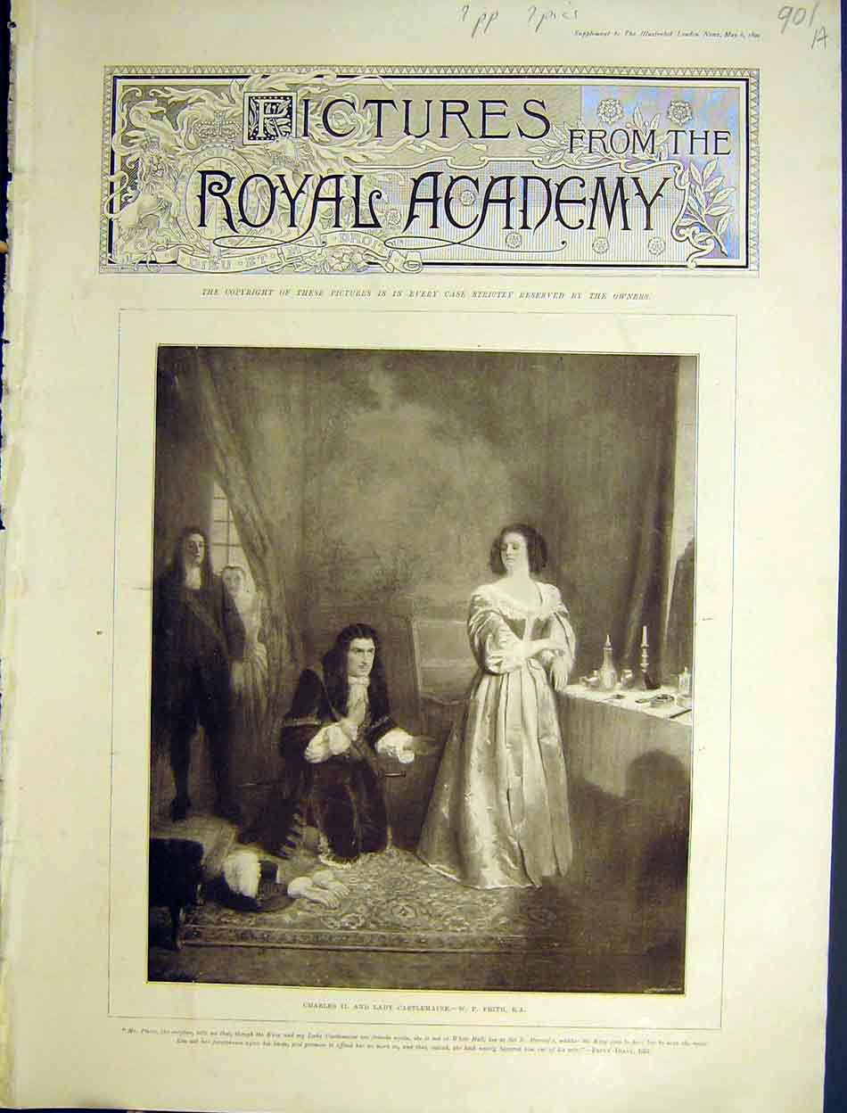 Print 27 Pictures Royal Academy Fine Art 1899 01Amaa0 Old Original
