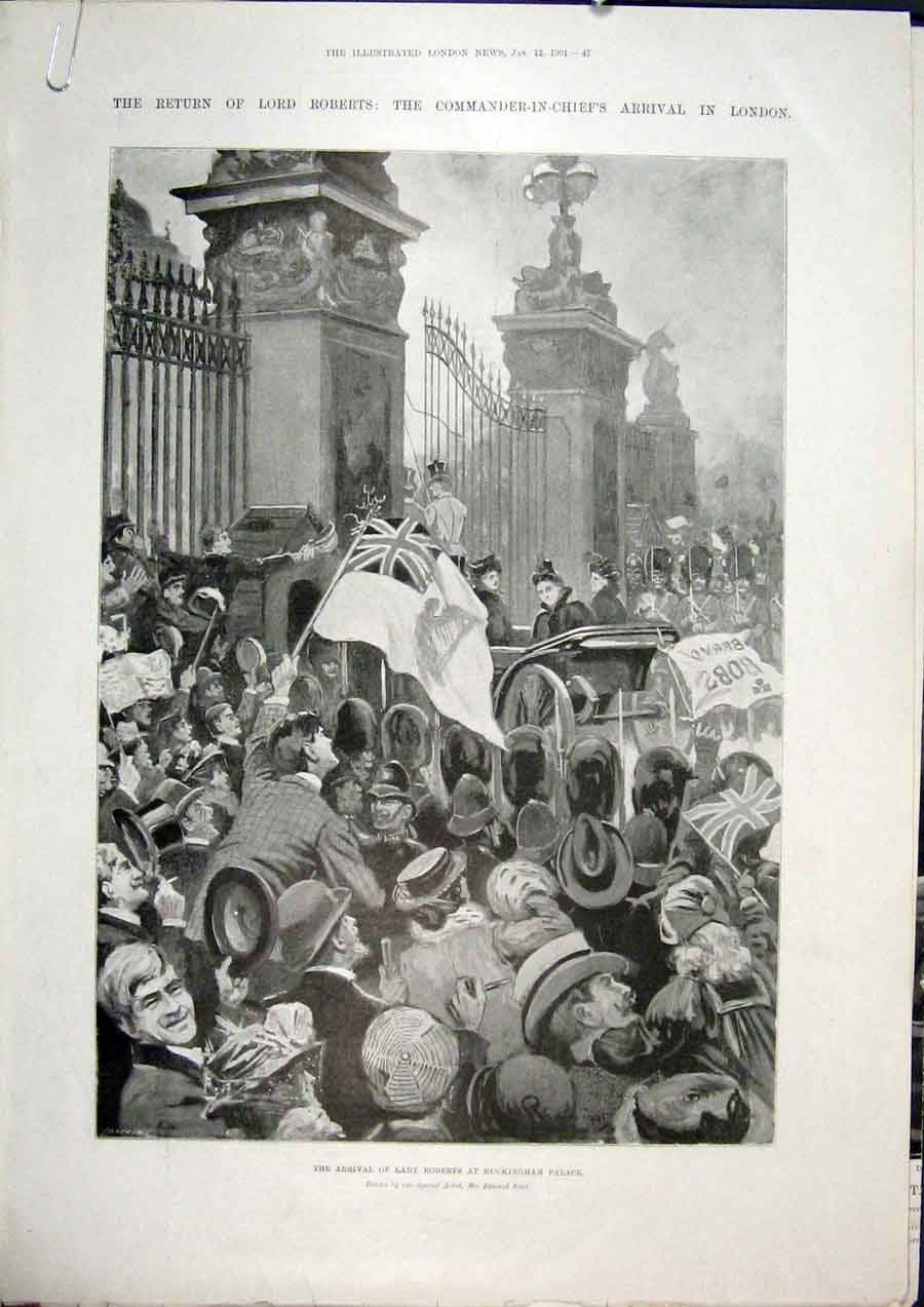 Print Roberts London Buckingham Palace 1901 47Amaa0 Old Original