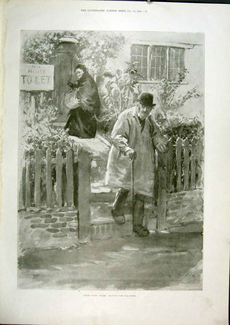 Print Home House Let Rent Cottage Fifty Years 1901 71Maa0 Old Original